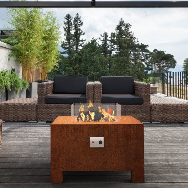 BRANN CORTEN STEEL GAS FIRE PIT BY ADEZZ