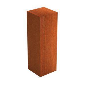 Corten Steel Garden Pedestal by Adezz 40x40x120cm