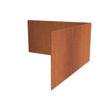 Corten Steel Corner Straight Garden Edging by Adezz