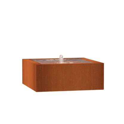 Corten Steel Square Water Tables By Adezz
