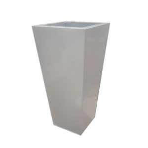 Silver Zinc Flared Square Tower Planters