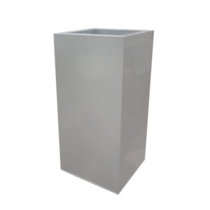 Silver Zinc Tower Planters