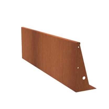 Corten Steel Straight Retaining Wall by Adezz