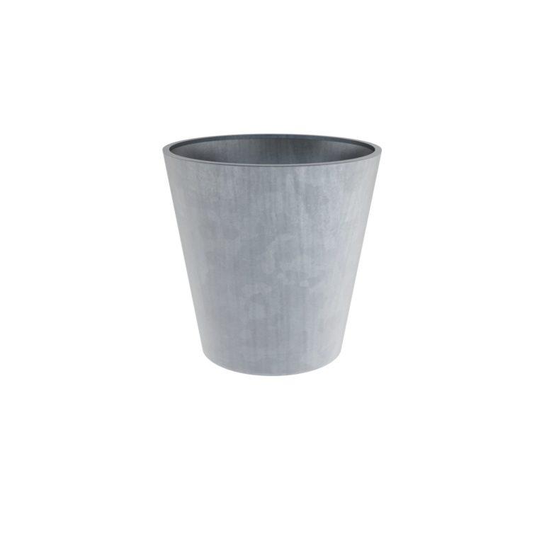 Galvanised Steel Round Vaza Planters By Adezz