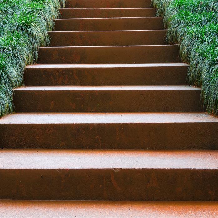 Corten Steel Garden Stairs by Adezz