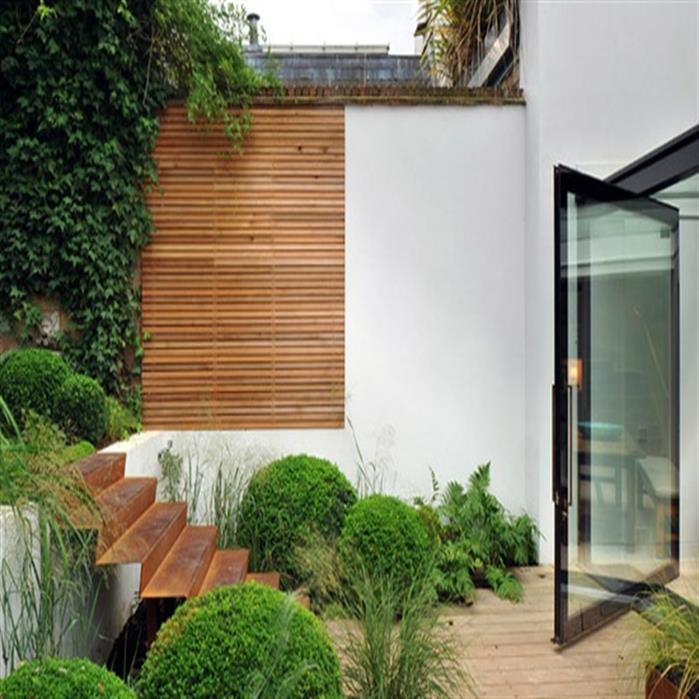 Corten Steel Garden Stairs by Adezz1