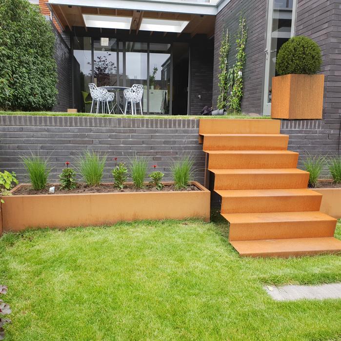 Corten Steel Garden Stairs by Adezz2