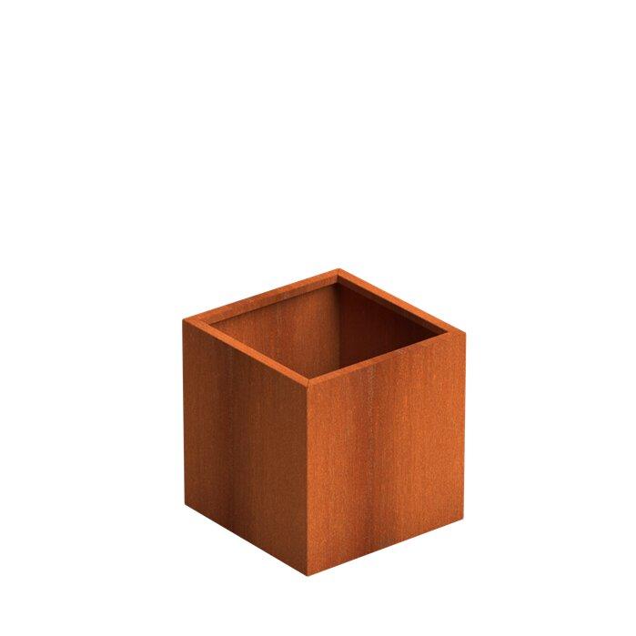 Corten Steel Cube Planters by Senzzo