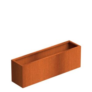 Corten Steel Trough Planters by Senzzo