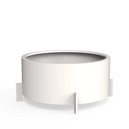 Aluminium Drum White (RAL 9016) by dippot 120×60