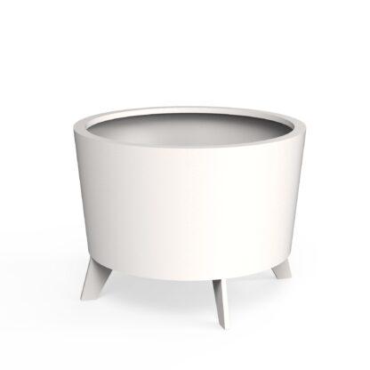Aluminium Dub Planters White (RAL 9016) by dippot 100x75cm