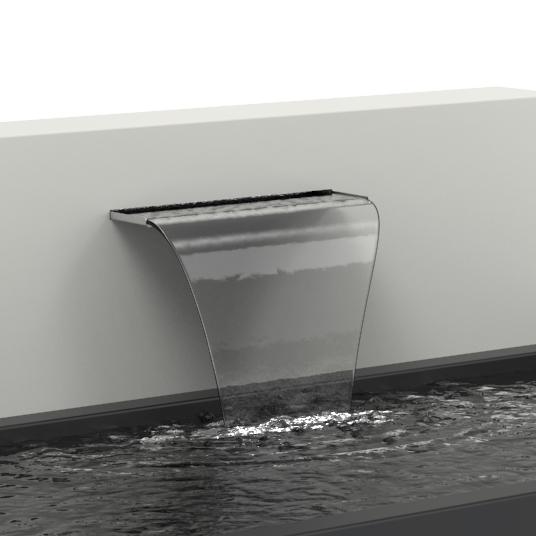 Aluminium Free Standing Pond Water Wall by Adezz