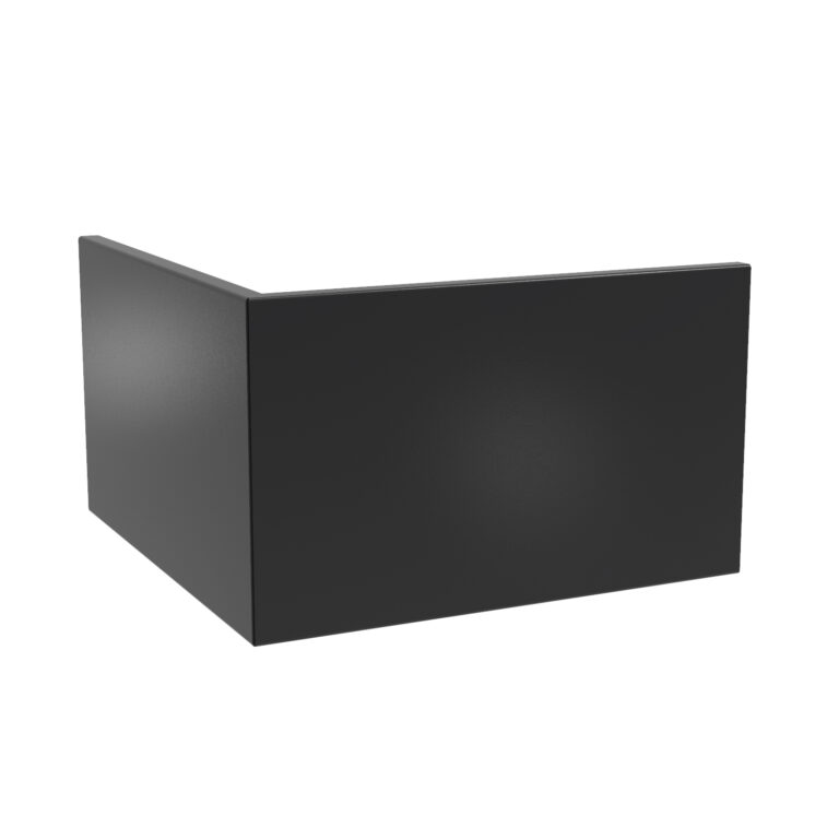 Aluminium Straight Outside Coner Retaining Wall by Adezz 100x100x60cm