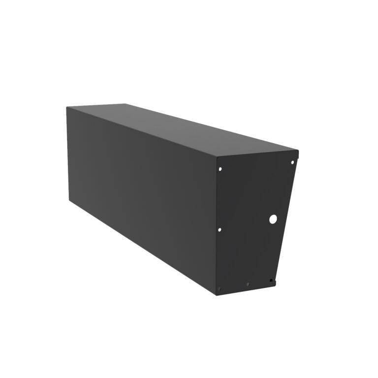 Aluminium Straight Wide-Top Retaining Wall by Adezz 200x60cm
