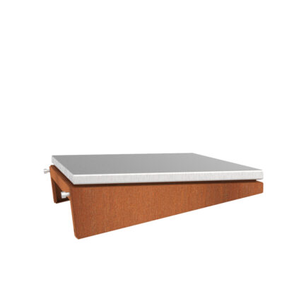 Corten Steel Damm BBQ Metal Side Plate by Adezz 40x50x13cm