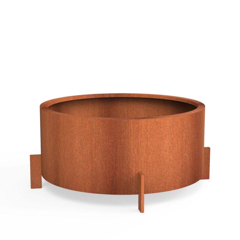 Corten Steel Drum by dippot 120×60