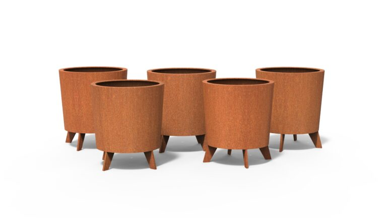Corten Steel Dub Planters by dippot Collection