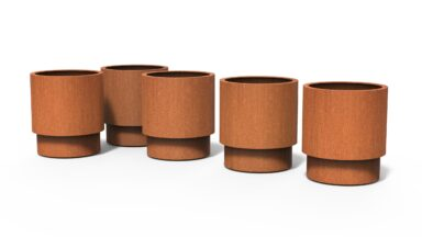 Corten Steel Extend Planters by dipott Collection