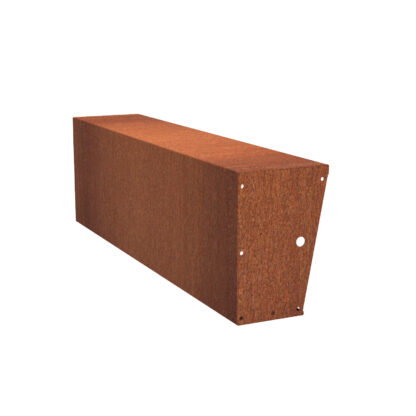 Corten Steel Straight Wide-Top Retaining Wall by Adezz 60x200x40
