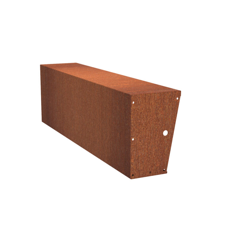 Corten Steel Straight Wide-Top Retaining Wall by Adezz 60x200x40