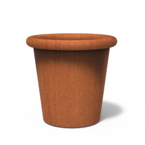 Corten Steel Tube Planter by dipott 100x95cm