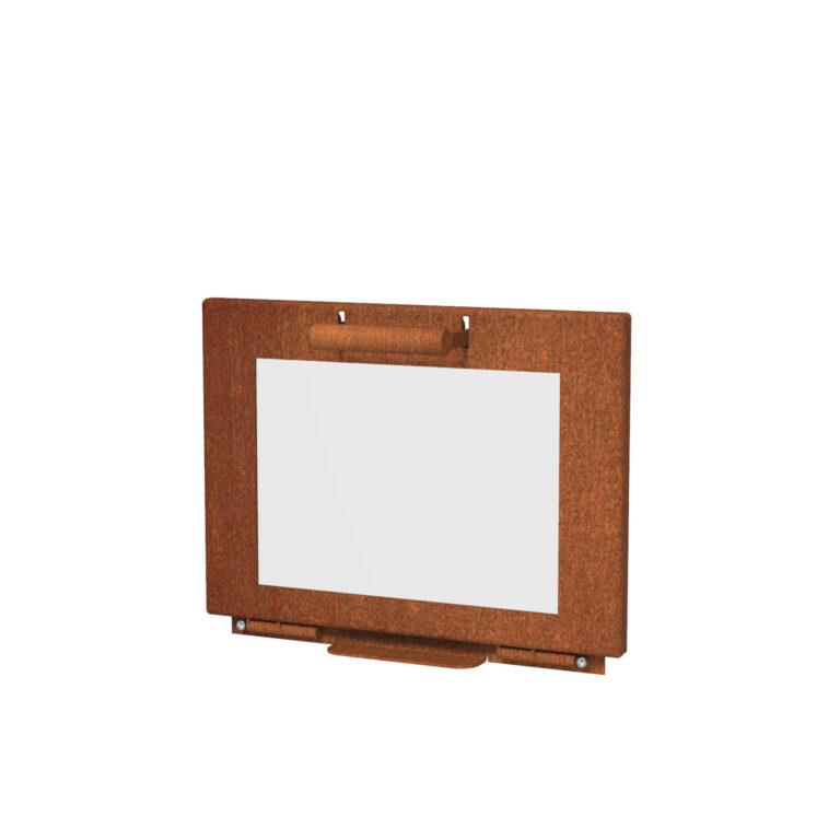 Corten Steelt Stig Log Burner Door by Adezz50x50x100cm