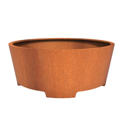 Corten steel Cado with feet planter by Adezz 200×80