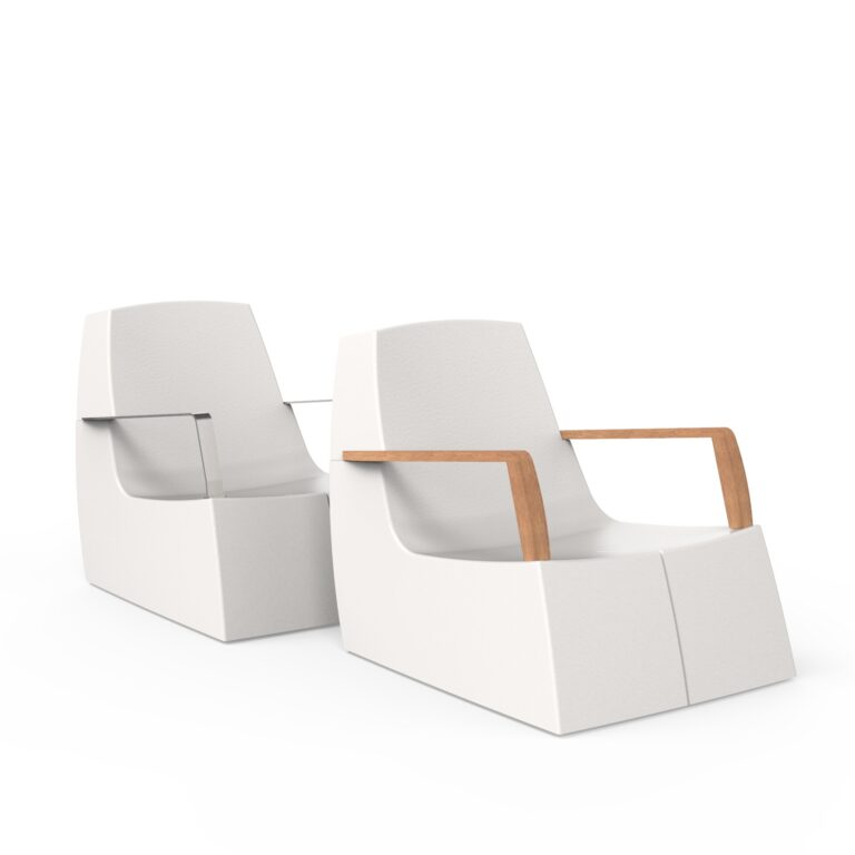 Original Series Arm Chair White (RAL 9016) Both Armrests by One To Sit 72x94x77