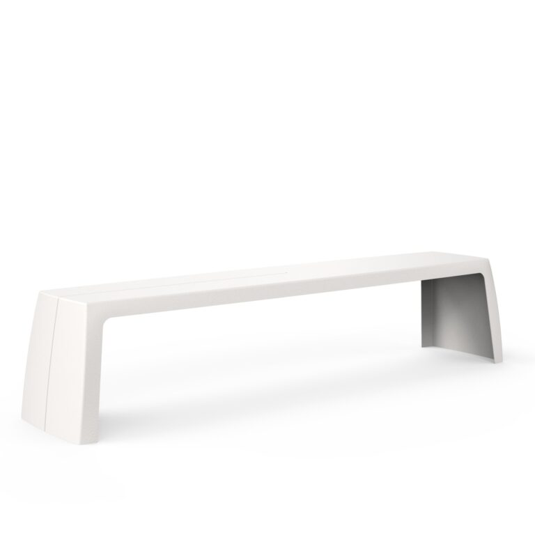 Original Series Bench White (RAL 9016) by One To Sit 200x40x45cm
