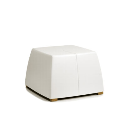 Original Series Footrest White (RAL 9016) by One To Sit 40x40x31cm