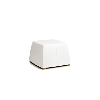 Original Series Footrest White (RAL 9016) by One To Sit 40x40x31cm2