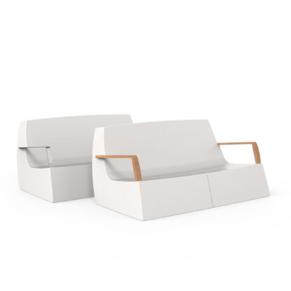 Original Series Sofa White (RAL 9016) Both Armrest by One To Sit 165x94x77cm
