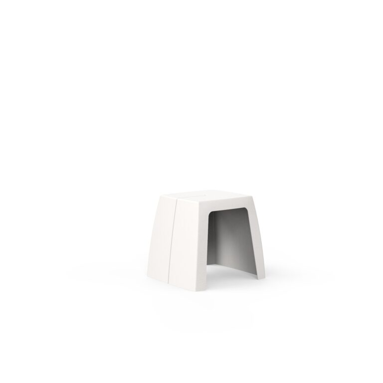 Original Series Stool White (RAL 9016) by One To Sit 45x40x45cm