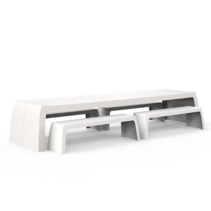 Original Series Table White (RAL 9016) by One To Sit 400x110x76