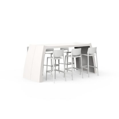 Original Series Tall Table White (RAL 9016) by One To Sit 210x90x108cm