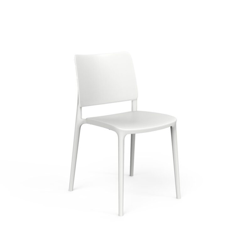 Sera Series Chair White by One To Sit 49x54x80cm