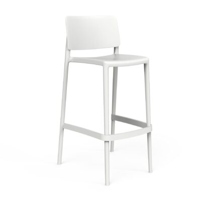 Sera Series Tall Chair White (RAL 9016) by One To Sit 48x50x99cm