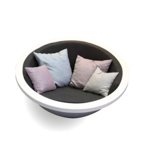 Sphere Seat White (RAL 9016) by One To Sit 140x70cm