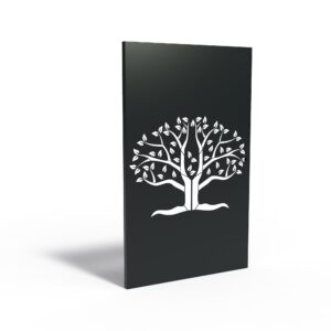 Aluminium Tree of Halves Garden Panel by Adezz 110x5x180cm