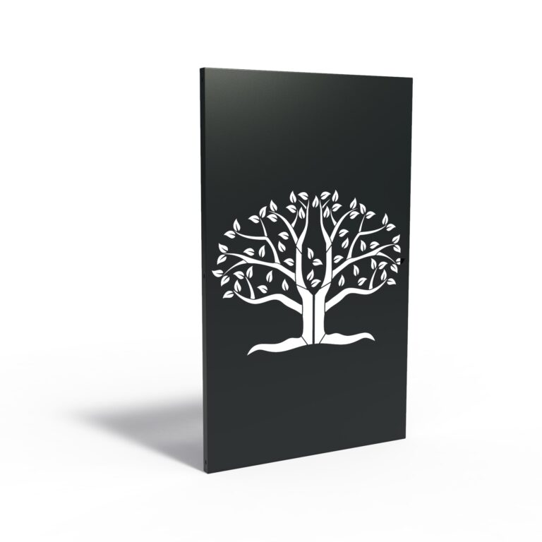 Aluminium Tree of Halves Garden Panel by Adezz 110x5x180cm