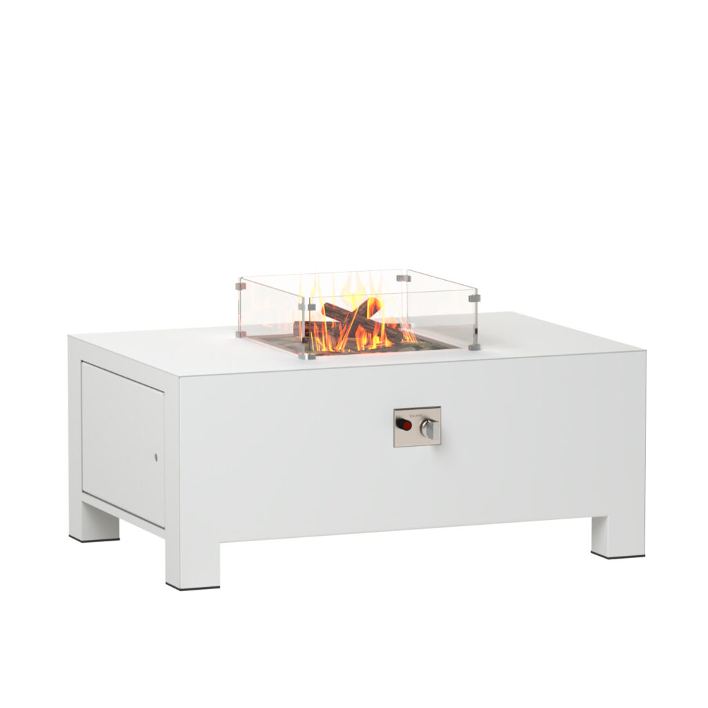 BRANN Aluminium Gas Fire Pit by Adezz 120x80x50cm