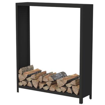 Black Heat Resistant Tall Wood Storage Unit by Adezz 150x40x180cm