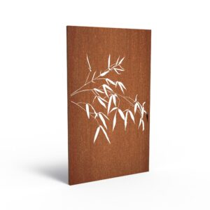 Corten Steel Bamboo Horizontal Garden Panel by Adezz 110x5x180cm