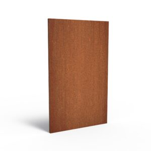 Corten Steel Basic Garden Panel by Adezz 110x5x180cm