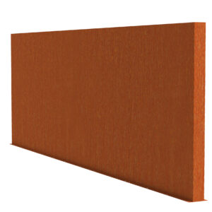 Corten Steel Garden Wall Screen by Adezz 400x15x200cm