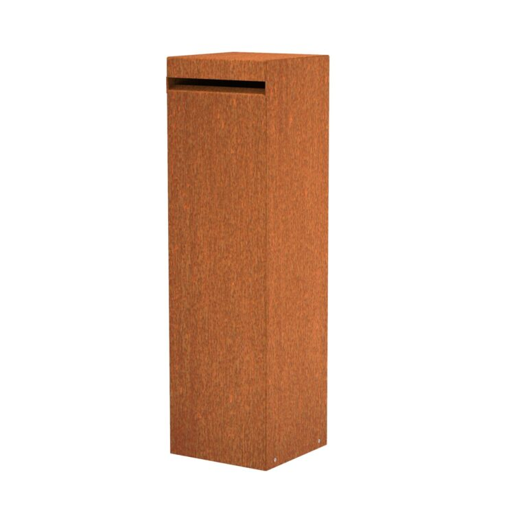 Corten Steel Hacon Letter Box by Adezz 35x35x120cm