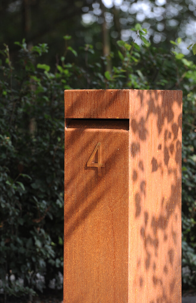 Corten Steel Hacon Letterbox by Adezz Lifestyle photo1