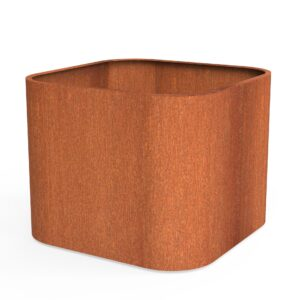 Corten Steel Tonic Planter by dipott 110x110x80cm
