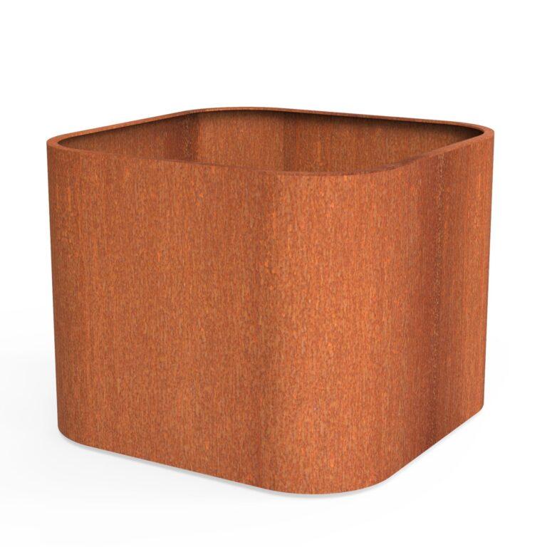 Corten Steel Tonic Planter by dipott 110x110x80cm