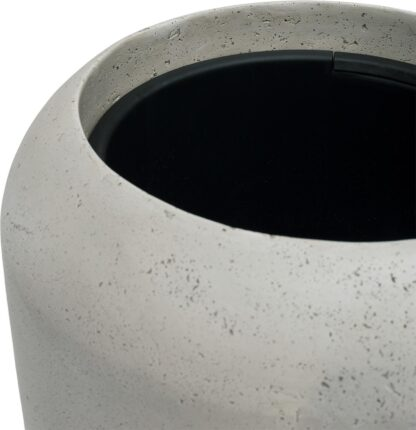 Grey Polystone Cigar Planter 42x100cm and Liner1